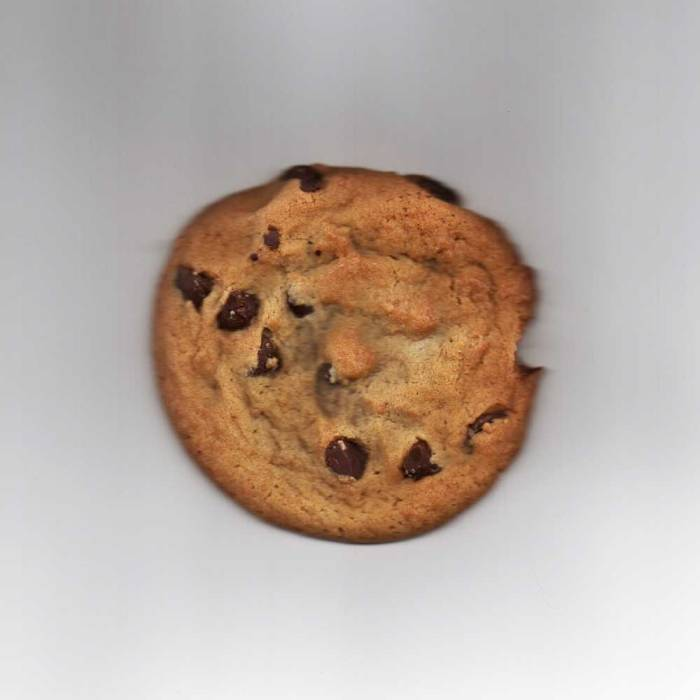 Delicious Subway cookie in my scanner.